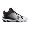 Under Armour Lead Off Moulded Mid Cleats - Black/White